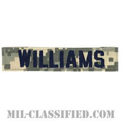 WILLIAMS [UCP(ACU)/ブルー刺繍/空軍ネームテープ/ベルクロ付パッチ]の画像