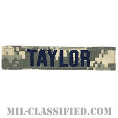TAYLOR [UCP(ACU)/ブルー刺繍/空軍ネームテープ/ベルクロ付パッチ]の画像