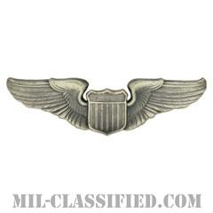 航空機操縦士章 (パイロット)(Air Force Pilot Badge)[カラー/燻し銀/バッジ]の画像