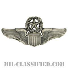 航空機操縦士章 (コマンド・パイロット)(Air Force Command Pilot Badge)[カラー/燻し銀/バッジ]の画像
