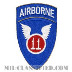 第11空挺師団(11th Airborne Division)[カラー/カットエッジ/エアボーンタブ付ワンピースタイプ/パッチ/レプリカ]の画像