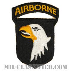 第101空挺師団 ホワイトタン(101st Airborne Division)[カラー/カットエッジ/エアボーンタブ付ワンピースタイプ/パッチ/レプリカ]の画像