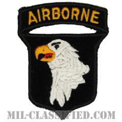 第101空挺師団 ベルベット生地(101st Airborne Division)[カラー/カットエッジ/エアボーンタブ付ワンピースタイプ/パッチ/レプリカ]の画像