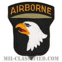 第101空挺師団(101st Airborne Division)[カラー/カットエッジ/エアボーンタブ付ワンピースタイプ/パッチ/レプリカ]の画像