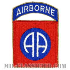 第82空挺師団(82nd Airborne Division)[カラー/カットエッジ/エアボーンタブ付ワンピースタイプ/パッチ/レプリカ]の画像
