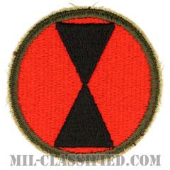 第7歩兵師団(7th Infantry Division)[カラー/カットエッジ/パッチ/レプリカ]の画像
