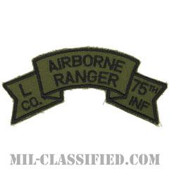 第75レンジャー歩兵連隊L中隊(第101空挺師団)(Company L, 75th Infantry Ranger Regiment)[サブデュード/カットエッジ/パッチ/レプリカ]画像