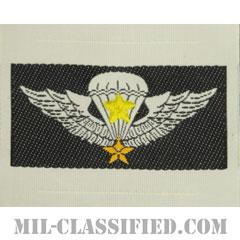 南ベトナム軍空挺章 (シニア)(RVN Parachutist Badge, Senior)[カラー/織刺繍(Bevo, Woven)/パッチ/レプリカ]の画像