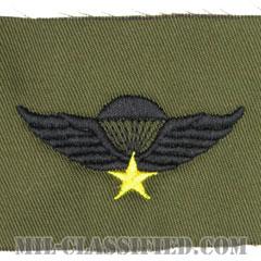 南ベトナム軍空挺章 (ベーシック)(RVN Parachutist Badge, Basic)[サブデュード/パッチ/レプリカ]の画像