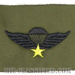 南ベトナム軍空挺章 (ベーシック)(RVN Parachutist Badge, Basic)[サブデュード/パッチ/レプリカ]画像