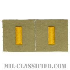 少尉(Second Lieutenant (2LT))[カラー/カーキ生地/ペア(2枚1組)/パッチ/レプリカ]の画像