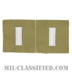 中尉(First Lieutenant (1LT))[カラー/カーキ生地/ペア(2枚1組)/パッチ/レプリカ]の画像
