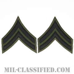 伍長(Corporal (CPL))[サブデュード/カットエッジ/ペア(2枚1組)/パッチ/レプリカ]の画像