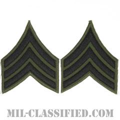 軍曹(Sergeant (SGT))[サブデュード/カットエッジ/ペア(2枚1組)/パッチ/レプリカ]の画像