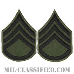 二等軍曹(Staff Sergeant (SSG))[サブデュード/カットエッジ/ペア(2枚1組)/パッチ/レプリカ]の画像
