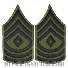 先任曹長(First Sergeant (1SG))[サブデュード/カットエッジ/ペア(2枚1組)/パッチ/レプリカ]の画像