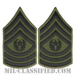 最先任上級曹長(Command Sergeant Major (CSM))[サブデュード/カットエッジ/ペア(2枚1組)/パッチ/レプリカ]の画像