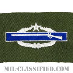 戦闘歩兵章 (セカンド)(Combat Infantryman Badge (CIB), Second Award)[カラー/パッチ/レプリカ]の画像