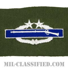 戦闘歩兵章 (サード)(Combat Infantryman Badge (CIB), Third Award)[カラー/パッチ/レプリカ]の画像