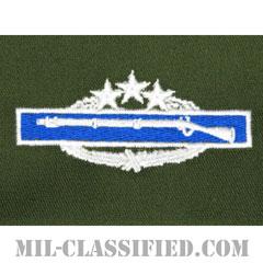 戦闘歩兵章 (フォース)(Combat Infantryman Badge (CIB), Fourth Award)[カラー/パッチ/レプリカ]の画像