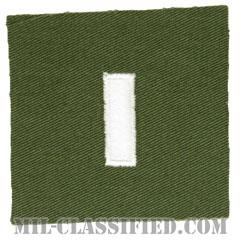 中尉(First Lieutenant (1LT))[カラー/階級章/パッチ/レプリカ]の画像