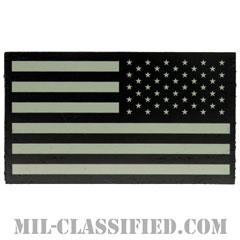 星条旗 グレー(リバース)(USA Flag (Reversed))[IR(赤外線)反射素材/ベルクロ付パッチ]画像