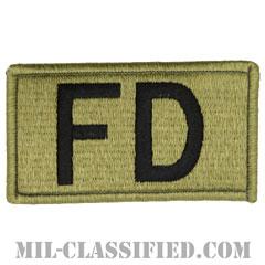 FD(消防隊)(Fire Department)[OCP/メロウエッジ/ベルクロ付パッチ]の画像