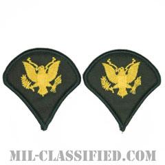 特技兵(Specialist (SPC))[カラー(グリーン)/メロウエッジ/階級章(男性用)/パッチ/ペア(2枚1組)]の画像