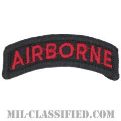 エアボーンタブ(ブラック&レッド)(Airborne Tab)[カラー/メロウエッジ/パッチ]の画像