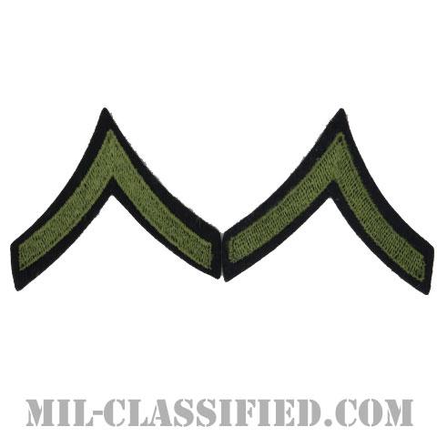 一等兵(Private First Class (PFC))[ウール・フェルト生地刺繍タイプ/階級章(1942-1948)/パッチ/ペア(2枚1組)]画像