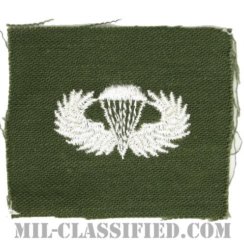 空挺章 (ベーシック)(Parachutist Badge, Basic)[カラー/パッチ]の画像