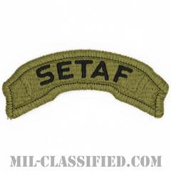南ヨーロッパタスクフォースタブ(Southern European Task Force(SETAF)Tab)[OCP/メロウエッジ/ベルクロ付パッチ]の画像