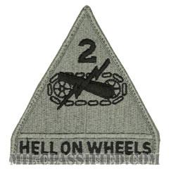 第2機甲師団(2nd Armored Division)[UCP(ACU)/メロウエッジ/ベルクロ付パッチ]の画像