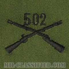 502歩兵連隊章(502nd Infantry Regiment)[サブデュード/兵科章/パッチ/ペア(2枚1組)]の画像