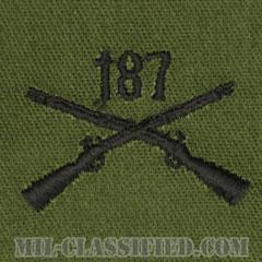 187歩兵連隊章(187th Infantry Regiment)[サブデュード/兵科章/パッチ/ペア(2枚1組)]の画像