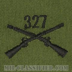 327歩兵連隊章(327th Infantry Regiment)[サブデュード/兵科章/パッチ/ペア(2枚1組)]の画像