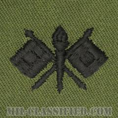 通信科章(Signal Corps)[サブデュード/兵科章/パッチ/ペア(2枚1組)]の画像