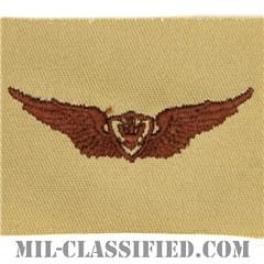 航空機搭乗員章 (ベーシック・エアクルー)(Army Aviation Badge (Aircrew), Basic)[デザート/パッチ]の画像