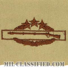 戦闘歩兵章 (フォース)(Combat Infantryman Badge (CIB), Fourth Award)[デザート/パッチ]の画像