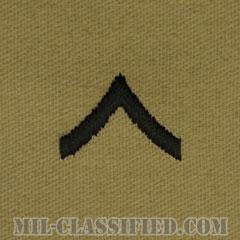 一等兵(Private Second Class (PV2))[デザート/階級章/パッチ/ペア(2枚1組)]の画像