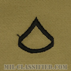 上等兵(Private First Class (PFC))[デザート/階級章/パッチ/ペア(2枚1組)]の画像