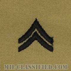 伍長(Corporal (CPL))[デザート/階級章/パッチ/ペア(2枚1組)]の画像