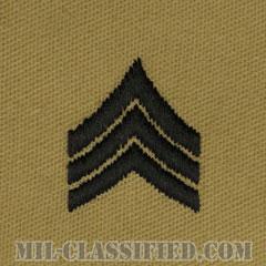 軍曹(Sergeant (SGT))[デザート/階級章/パッチ/ペア(2枚1組)]の画像