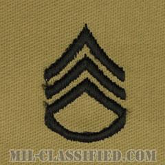 二等軍曹(Staff Sergeant (SSG))[デザート/階級章/パッチ/ペア(2枚1組)]の画像