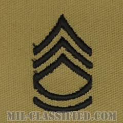 一等軍曹(Sergeant First Class (SFC))[デザート/階級章/パッチ/ペア(2枚1組)]の画像