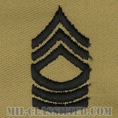 曹長(Master Sergeant (MSG))[デザート/階級章/パッチ/ペア(2枚1組)]の画像