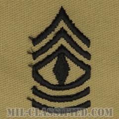 先任曹長(First Sergeant (1SG))[デザート/階級章/パッチ/ペア(2枚1組)]の画像