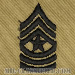 上級曹長(Sergeant Major (SGM))[デザート/階級章/パッチ/ペア(2枚1組)]の画像