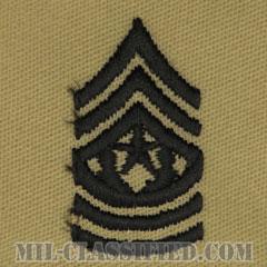 最先任上級曹長(Command Sergeant Major (CSM))[デザート/階級章/パッチ/ペア(2枚1組)]の画像