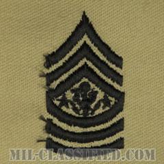 陸軍最先任上級曹長(Sergeant Major of the Army (SMA))[デザート/階級章/パッチ/ペア(2枚1組)]の画像